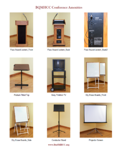 Images of the Conference Amenities