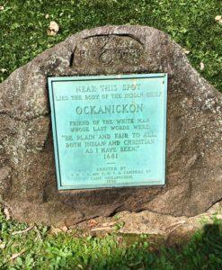 Ockanickon monument